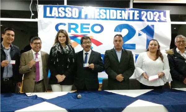 Asambleísta de CREO se une al proceso de carnetización y fortalecimiento del Movimiento en Carchi