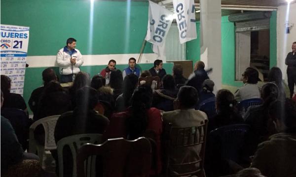 En Déleg el Movimiento CREO coordina su trabajo territorial y posesiona la Directiva de la Parroquia Solano