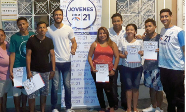 Jóvenes CREO en Guayaquil continúan con su tarea de capacitar y captar a nuevos adherentes