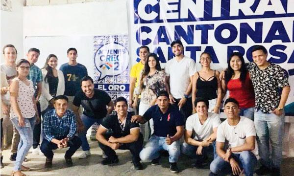 La directiva de Jóvenes CREO en Santa Rosa continúa con su trabajo territorial para el fortalecimiento de El Oro