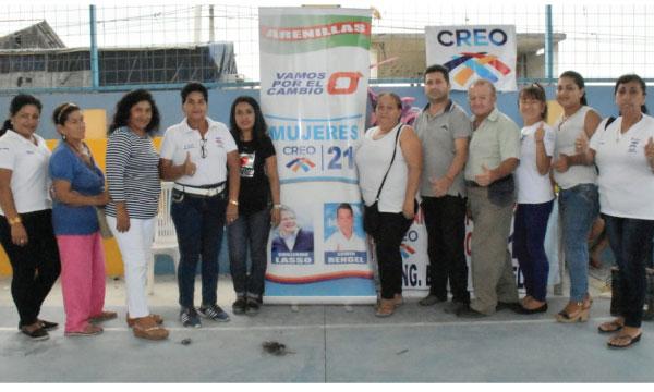 En Arenillas el Frente de Mujeres CREO impulsa sus proyectos de responsabilidad social