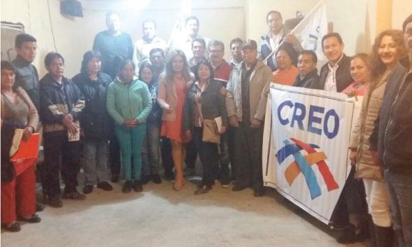 En el Cantón Pallatanga CREO Chimborazo trabaja con su directiva para fortalecer el territorio