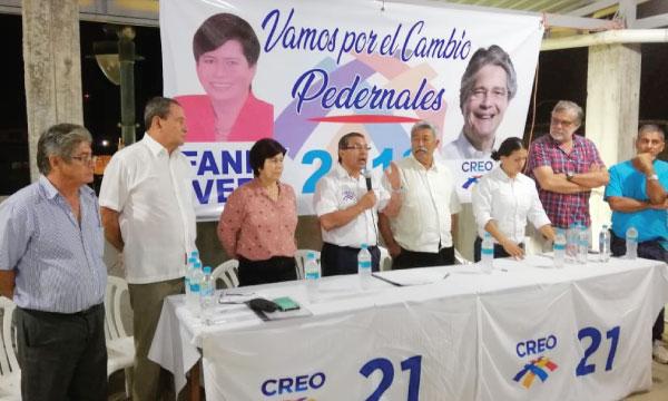 Desde Pedernales CREO Manabí continúa su recorrido de fortalecimiento territorial