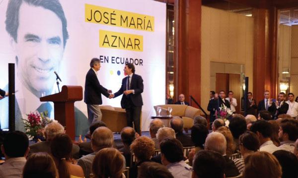 Expresidente Español junto con Guillermo Lasso analizan los retos ciudadanos en materia de seguridad