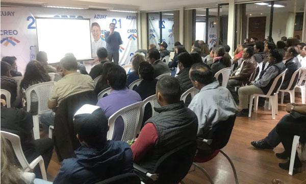 CREO Azuay continúa el proceso de capacitación en políticas públicas y planes de trabajo local