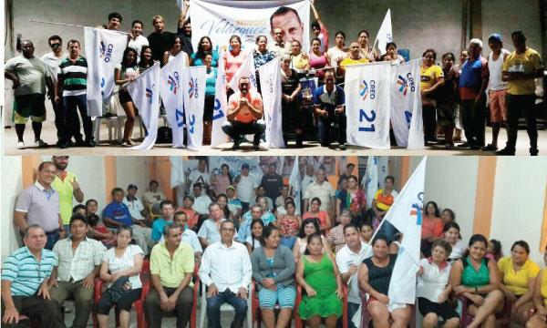 CREO Chone fortalece el trabajo territorial en Manabí estructurando sus directivas parroquiales