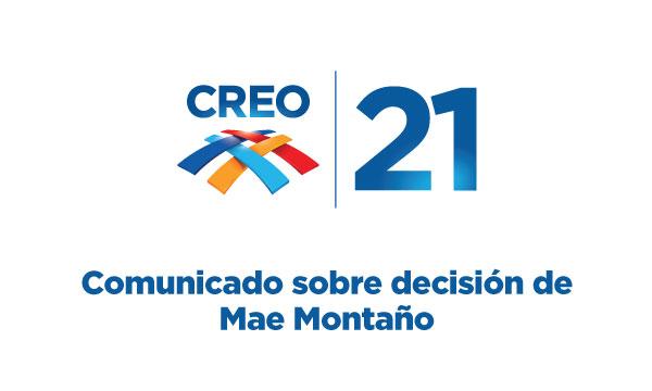 Comunicado sobre decisión de Mae Montaño