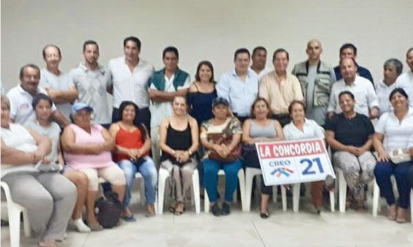 En La Concordia se asienta el trabajo territorial con los dirigentes de CREO Santo Domingo