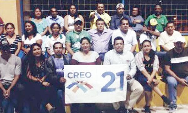 En la Parroquia La Cuca de la Provincia de El Oro se conforma el frente de Profesionales del Movimiento CREO