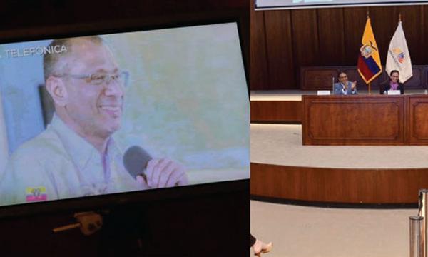Estado permite que delincuente ecuatoriano de conferencia desde la comodidad de la cárcel en Quito