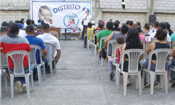 Desde la Circunscripción de Guayaquil CREO trabaja con los líderes barriales de El Fortín