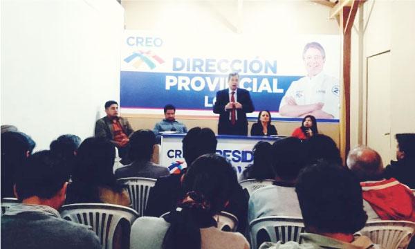 CREO Loja planifica trabajo político con los Presidentes Cantonales