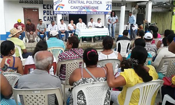 CREO Muisne inaugura su nueva central territorial y coordina sus actividades políticas frente al 2019