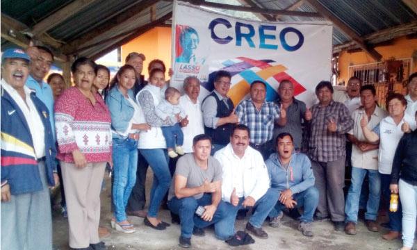 CREO Quijos consolida su directiva cantonal y continúa con su trabajo territorial en Napo