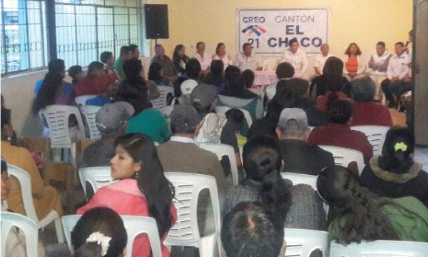 En Santa Rosa CREO El Chaco posesiona su directiva parroquial y fortalece sus bases de Napo