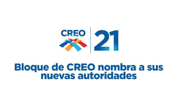 Bloque de CREO nombra a sus nuevas autoridades