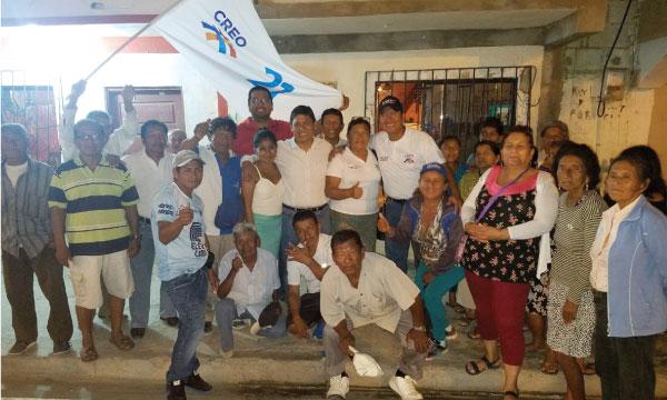 El trabajo territorial puerta a puerta de CREO continúa en el cantón Salinas de Santa Elena