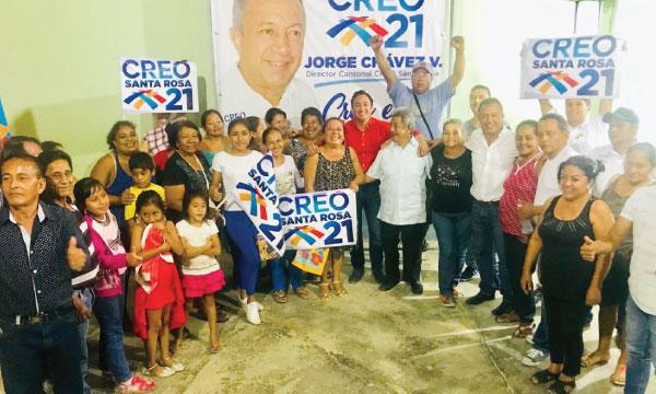 CREO Santa Rosa continúa con su trabajo territorial para fortalecer sus bases de El Oro