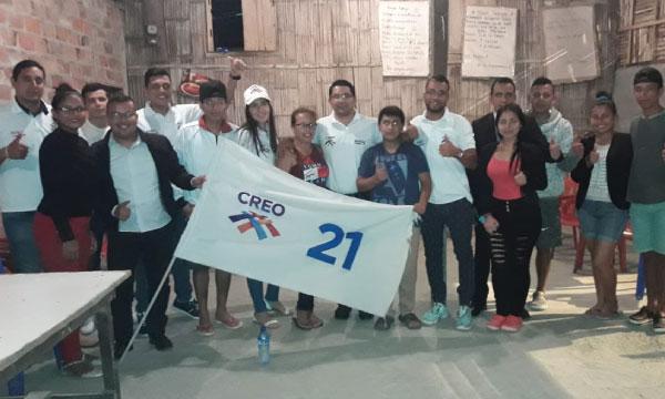 Frente de Jóvenes CREO de la parroquia Andrés de Vera fortalece el trabajo político de Portoviejo