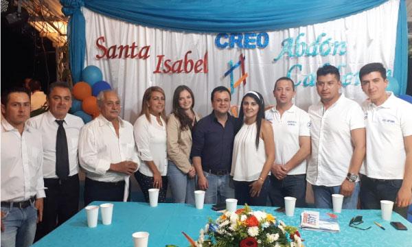 En la Parroquia Abdón Calderón CREO fortalece las bases de la Provincia del Azuay