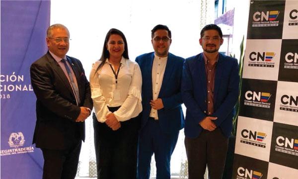 Movimiento CREO cumple jornada internacional de observación electoral en Colombia