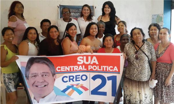 El Frente de Mujeres de la Parroquia Súa fortalece la estructura territorial de CREO Atacames