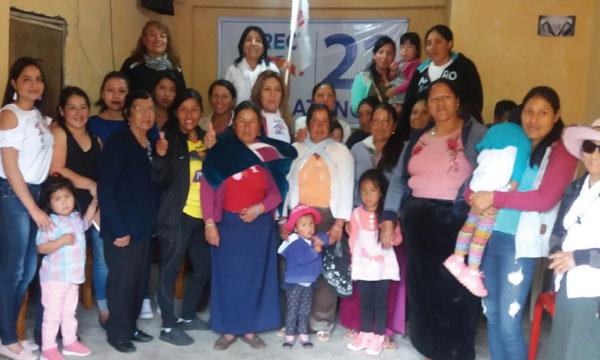 Frente de Mujeres de CREO Pallatanga desarrolla su agenda de trabajo para fortalecer Chimborazo