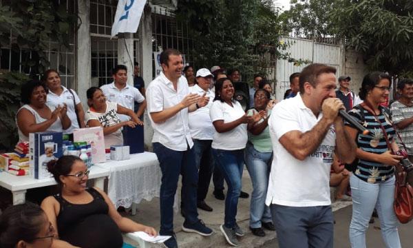 En Bastión Popular la directiva de CREO Guayaquil celebra el Día del Padre