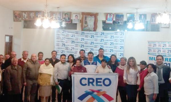 Desde la Parroquia Calpi CREO Fortalece su estructura territorial de Riobamba