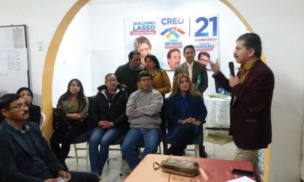 En Chimborazo CREO continúa su trabajo de fortalecimiento territorial con sus bases