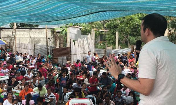 Francisco Jiménez lleva el mensaje de CREO a Bastión Popular y Sergio Toral