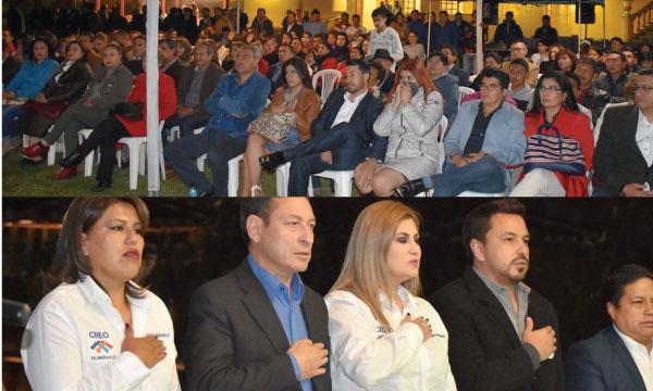 Directiva Cantonal de CREO rinde homenaje a los 80 años de cantonización de Rumiñahui