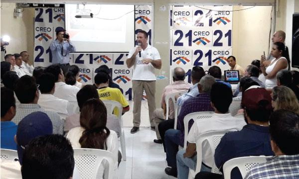 CREO Samborondón cumple con su jornada de trabajo territorial y fortalece su estructura