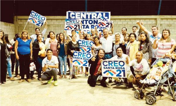 Desde Santa Rosa se fortalece la estructura y el trabajo de las bases de CREO El Oro