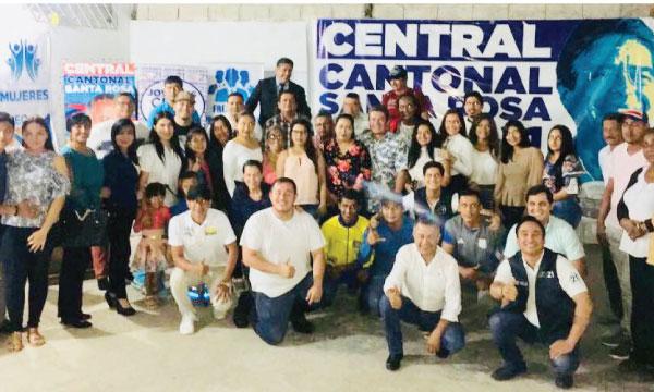 CREO Santa Rosa posesiona a las nuevas directivas cantonales del frente de Mujeres y Profesionales