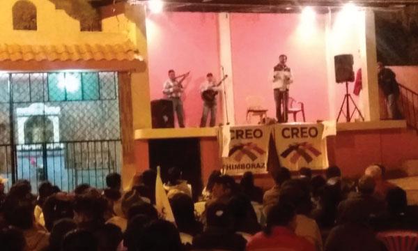 En evento Político CREO Chimborazo posesiona a su nueva directiva parroquial de Sibambe
