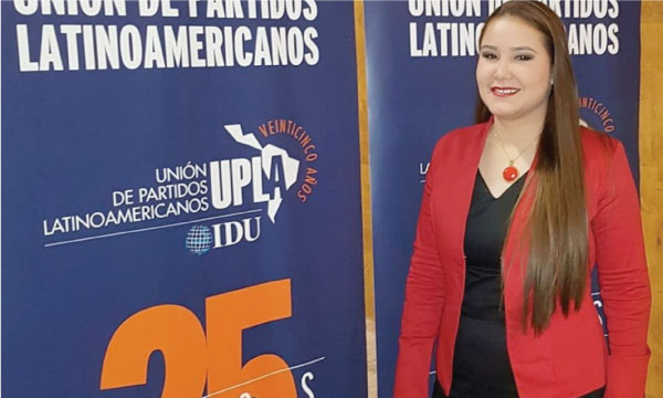 Vicepresidenta Nacional de CREO asiste al encuentro de la Unión de Partidos Latinoamericanos en Chile