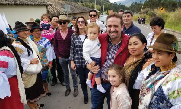 CREO participa en el tradicional evento de la Rama de Gallos en la comunidad de Zuleta de Imbabura