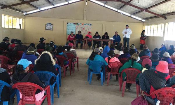 En la comuna Purubin de la Parroquia Gualleturo CREO Cañar acelera su trabajo de fortalecimiento