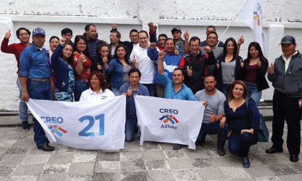 Dirigentes Parroquiales de CREO Cuenca continúan su proceso de capacitación y fortalecimiento territorial