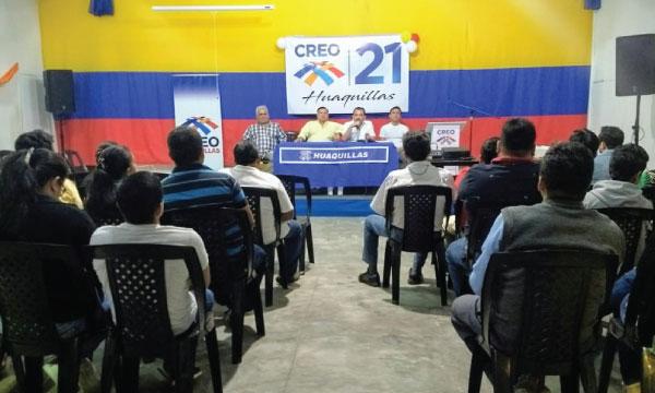 CREO Huaquillas continúa su trabajo de organización territorial y fortalece su estructura