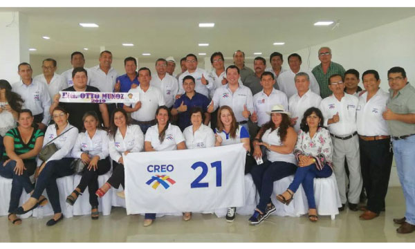Presidentes Cantonales de CREO Manabí planifican su trabajo con miras al segundo semestre de 2018