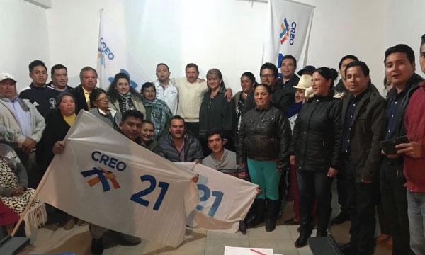 En el cantón Oña CREO posesiona su nueva Directiva Parroquial de Susudel y fortalece sus bases