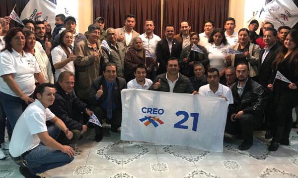 En la Parroquia Baños de la Provincia del Azuay CREO posesiona Directiva y fortalece sus bases