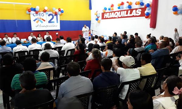 En Huaquillas continúa el recorrido de fortalecimiento territorial de CREO El Oro con miras al 2019