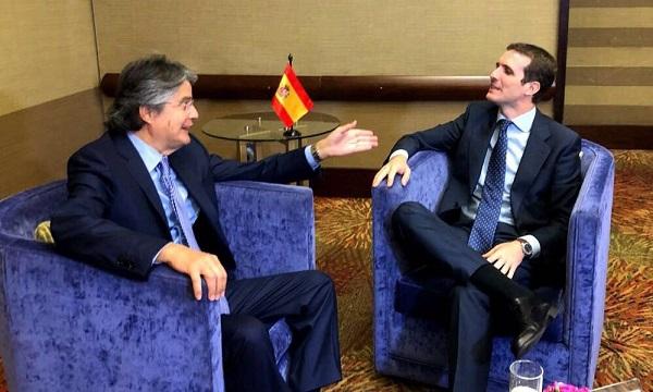 Lasso presente en la posesión del nuevo Presidente de Colombia Iván Duque