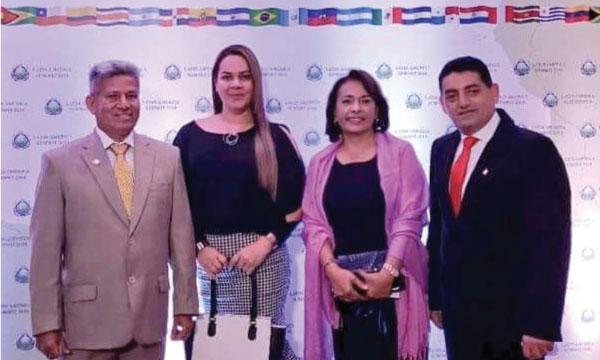 Asambleísta de CREO Esmeraldas representa al Ecuador en Cumbre Internacional por la paz en Brasil