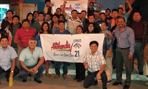 El trabajo de la fuerza territorial en CREO Santa Elena continúa desde la Parroquia Atahualpa