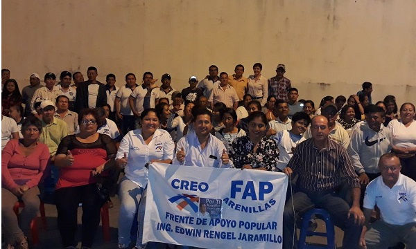 Desde el Parroquia Palmales del cantón Arenillas se profundiza el trabajo territorial de CREO El Oro