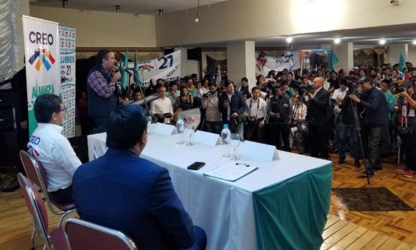 Movimiento CREO consolida el proceso de unidad política en Chimborazo con miras al 2019